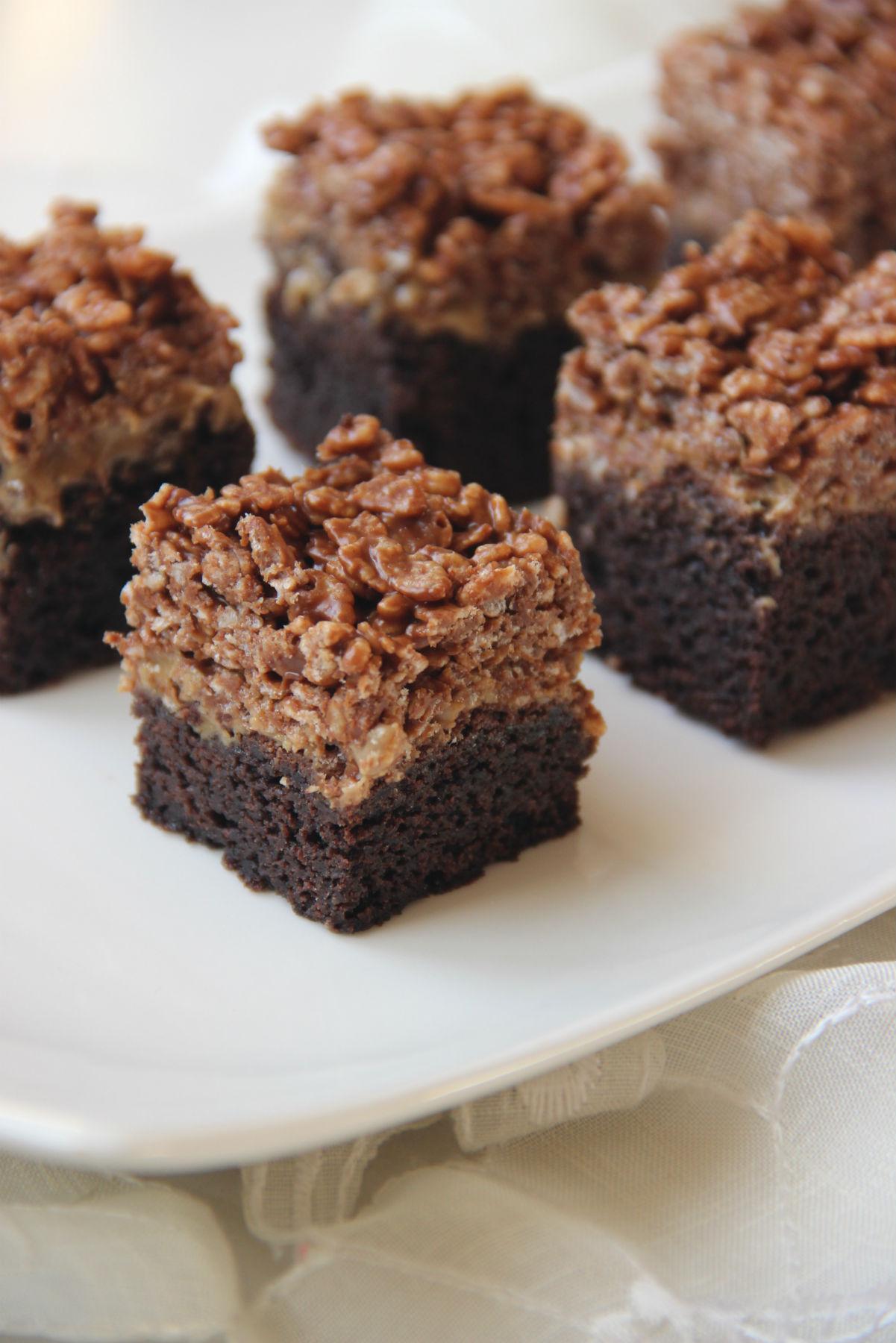 עוגת חטיף שוקולד חמאת בוטנים