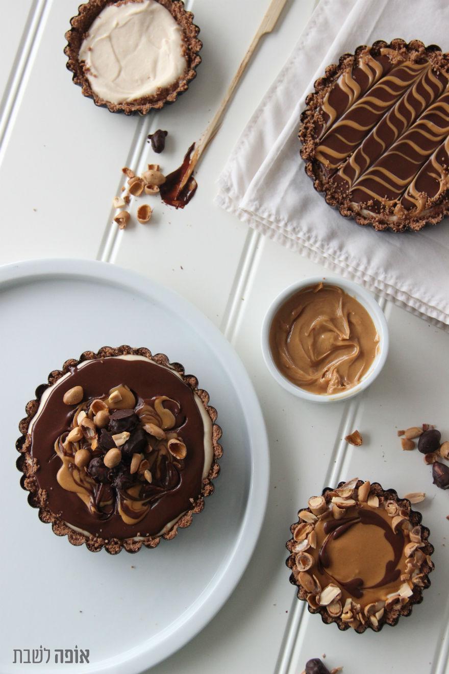 טארט חמאת בוטנים ושוקולד בסבבה