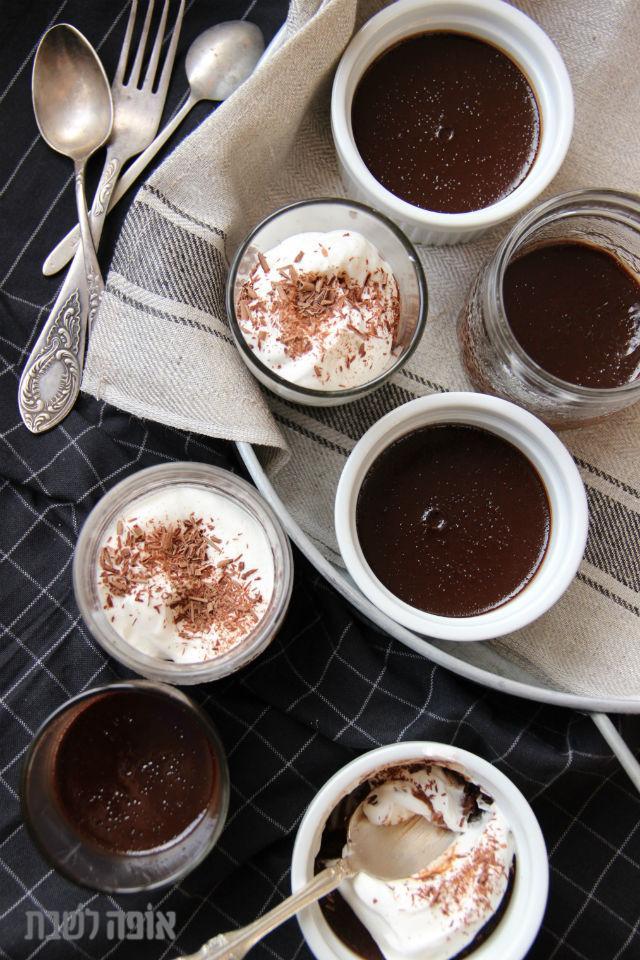 קינוח קרם שוקולד קטיפתי (או קרם פוץ)